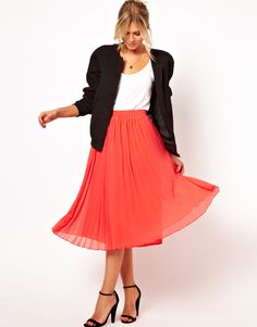 Midi Skirt with Pleats