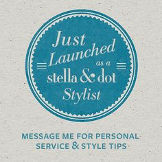 just launched my very own @Stella Menagia & Dot business! so excited to be a part of such a wonderful community of women... not to mention the amazing free jewelry and accessories!  check out my personal stylist site at: www.stelladot.com/lesleyanne