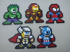 Avengers Perler Bead Sprites!