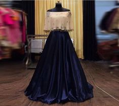 Neviblue color malai satin lehenga choli with readymade blouse for women, indian lengha, bridal lehenga, lengha choli, chaniya choli Indian Gowns Dresses, Indian Fashion Dresses, Indian Wedding Outfits, Indian Outfits, Indian Attire, Indian Clothes, Indian Wear, Indo Western Dress For Girls, Western Dresses For Party