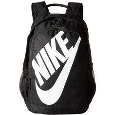 Nike Hayward Futura 2.0 (Black/Black/White) Backpack Bags ($43) ❤ liked on Polyvore featuring bags, backpacks, zipper bag, strap backpack, knapsack bag, rucksack bags and zip handle bags