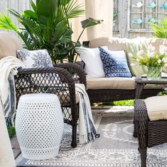 Wonderful spot to relax outside FROM: Craftberry Bush | Patio Makeover with Joss and Main