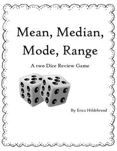This is an awesome interactive game/assignment students can play in groups! Each can take turns rolling the dice and logging it each time of the worksheet to find mean, median, mode, and range! Math Tutor, Math Teacher, Math Classroom, Teaching Math, Classroom Ideas, Math Games, Math Activities, Fun Math, Maths