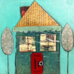 Angela Anderson Art Blog: Cute Houses Mixed Media Project - Kids Art Class