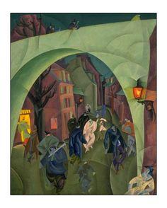 Lyonel Feininger, The Green Bridge II