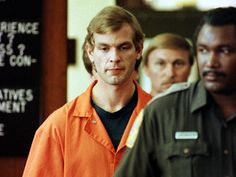 Serial killer Jeffrey Dahmer is escorted into a Milwaukee County Circuit Court by a Milwaukee County. Jeffrey Dahmer, Republican Convention, Peter Lorre, Today In History, Criminology, Pretty Men, Serial Killers, True Crime, Weird Facts