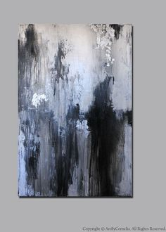 Reserved Listing Contemporary Abstract Painting Champagne Gold, Silver Leaf…