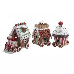 Ceramic Gingerbread House – Kurt Adler Gingerbread Train Set