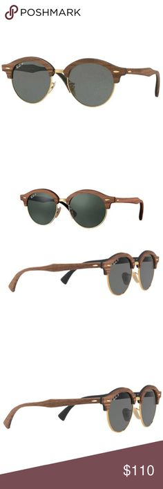 91371c9d8 Ray-Ban Round Green Classic G-15 Polarized Lens Ray-Ban Clubround Wood