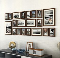 Style: Europe Brand Name: Spare no effort+ with picture card: Yes Model Number: Material: Wood Pack Type: Multi-frame Type: Photo Frame Shape: Rectangle Shape: Rectangle,Square Accounting for wall area: Packaging: Frame Wall Collage, Collage Picture Frames, Frames On Wall, Collage Ideas, Picture Frame Sets, Picture Wall, Family Collage, Photo On Wood, Room Decor