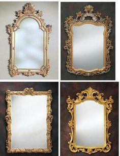Old frame mirror