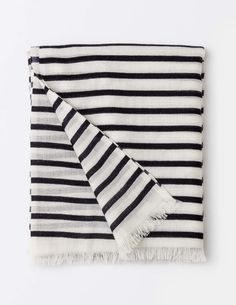 A perfect little scarf that adds warmth as it's 100% merino wool.  Currently half price! #scarf #merino #breton #stripe #bargain #boden