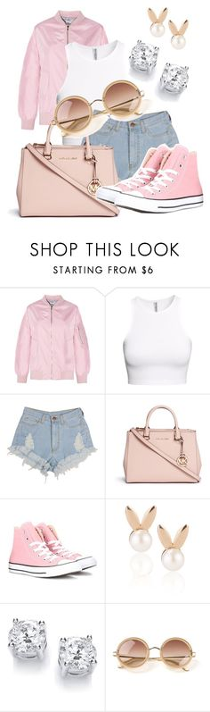 """""""Untitled #408"""" by msfts-rep on Polyvore featuring H&M, Michael Kors, Converse, Aamaya by priyanka and The Row"""