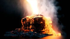 LAVA - Variable viscosity test driven by a VOPPOP custom temperature attribute on the FLIP particles. I am also using this attribute to drive the disp/Cd/emis on…
