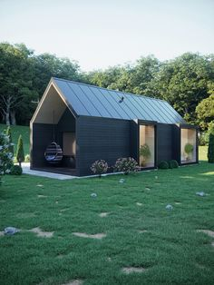 Modern wood house in forest Tiny House Cabin, Tiny House Design, Cabin Design, Modern Wood House, Modern Tiny House, Casas Containers, Shed Homes, House In The Woods, Building A House