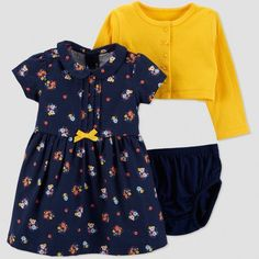 a5f9c4d0d583 Baby Girls' 3pc Floral Dress Set - Just One You® made by carter's Navy