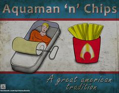 """Check out new work on my @Behance portfolio: """"Aquaman 'n' Chips"""" http://on.be.net/1K1Wtba"""