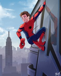 Adorable Spidey by @tinymintywolf - Visit to grab an amazing super hero shirt now on sale!
