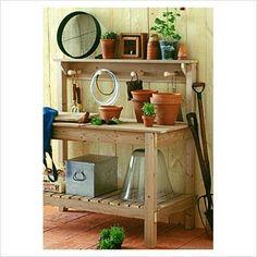 DIY Potting Bench | bhg.com/make-your-own-potting-bench
