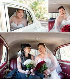 Bride and Bridesmaid in the vintage limo Rustic Wedding Venues, Bride Look, Limo, Brides And Bridesmaids, Looking Stunning, Wedding Couples, Wedding Season, Family Photographer, One Shoulder Wedding Dress