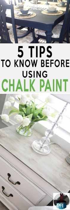 5 Things You Should Know about Chalk Paint - Painted Furniture Ideas - Chalk paint is all over the web. It i not only gorgeous but also very durable. Before you start your DIY paint project learn these great tips!