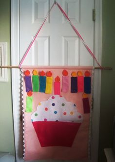 unique birthday gifts for kids: pin the candle on the cupcake sewing tutorial - crafts ideas - crafts for kids