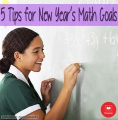 Tips on how you can collaborate with your kids to set obtainable math goals for the new year (or any time!).