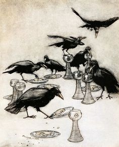 """From 'The Seven Ravens'. """"The Fairy Tales of the Brothers Grimm"""" illustrated by Arthur Rackham, 1909"""