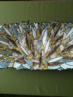 Stained Glass Inspired Porcelain Shallow Bowl by JillyBeanPottery, $75.00