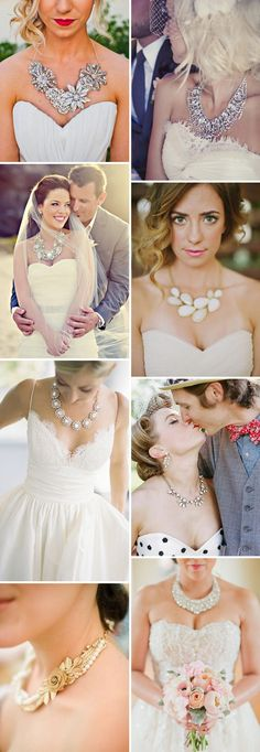 Statement Bridal Necklaces - Read more on One Fab Day: http://onefabday.com/bridal-statement-necklaces/