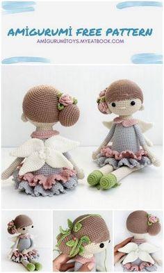 Crochet Monkey Pattern, Doll Amigurumi Free Pattern, Amigurumi Doll, Knitted Dolls Free, Crochet Doll Tutorial, Crochet Fairy, Crochet Hot Pads, Crochet Amigurumi Free Patterns, Crochet Projects