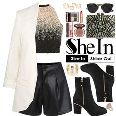 Shein by oshint on Polyvore featuring moda, Lace & Beads, WithChic, Topshop, Christian Dior, Charlotte Tilbury, women's clothing, women's fashion, women and female