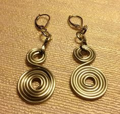Hand made earrings out of aluminum