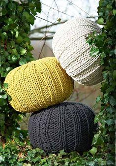 Puffs hechos con a crochet