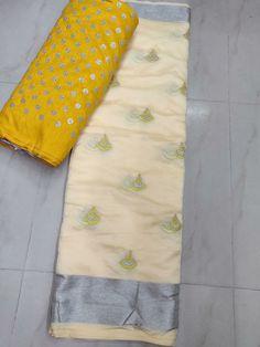 Beautiful organza sarees with designer blouse