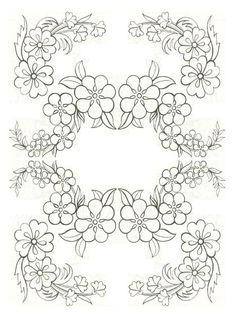 Freehand blackwork embroidery pattern, transcribed by