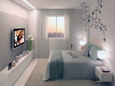habitaciones de matrimonio pequeñas Bedroom Simple, Pretty Bedroom, Modern Bedroom, Serene Bedroom, Home Bedroom, Bedroom Decor, Bedroom Ideas, Dream Rooms, Dream Bedroom