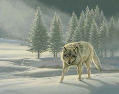 Wolf painting by Paul Krapf