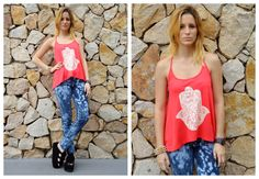 ♥ LOOK OF THE DAY 25-10-2012 ♥  ♥ Indie Tee  ♥ Jegging Nevado  ♥ Maui Sandals