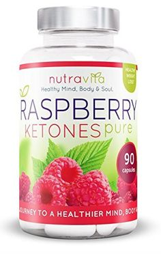 Raspberry Ketones by Nutravita - UK Manufactured High Quality Dietary weight loss Supplement - Great Value - Order Today (90 x Raspberry Ketone weight loss capsules) by Nutravita