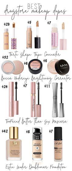 Best Drugstore Makeup Dupes #makeup #drugstoremakeup #dupes