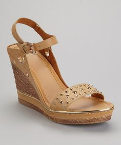 Take a look at this Tan Carissa-01 Sandal by Bumper on #zulily today!