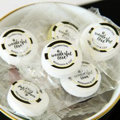 Personalized Wedding Life Saver Candies by Beau-coup