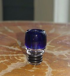 Hand blown Blue USA Made Pyrex Glass Drip Tip for Aspire Tanks #USA