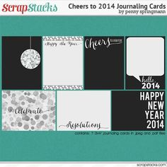 Freebie: New Year's Journaling Cards