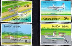Samoa 1970 Air Aircraft Set Fine Mint SG 345/86 Scott C3/6 Other Samoa Stamps HERE