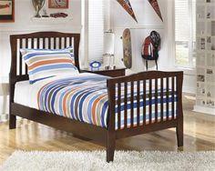 Rayville Medium Brown Twin Panel Bed