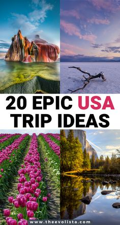 20 Epic USA Bucket List Trip Ideas | Best USA road trip ideas | Best attractions in USA | American travel bucket list | USA family vacations | USA travel ideas for couples | USA National parks | Top USA travel destinations | Best places to visit in the US | USA Travel Guide | Coolest USA trips | Things to do in USA | What to see in USA | Prettiest places to see in the US | USA bucket list travel destinations | American southwest | Yosemite | fly geyser #USA #traveltips #Unitedstates… Cool Places To Visit, Places To Travel, Travel Destinations, Usa Travel Guide, Travel Usa, Travel Tips, Travel Inspiration, Travel Ideas, Road Trip Usa