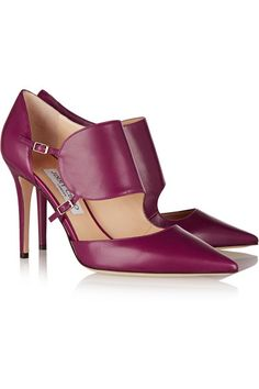 JIMMY CHOO Heath leather pumps - I love the color