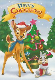 L Merry Christmas Bambi Disney Christmas Songs, Disney Christmas Ornaments, Christmas Cartoons, Christmas Characters, Christmas Scenes, Christmas Pictures, Christmas Art, Xmas, Bambi Disney